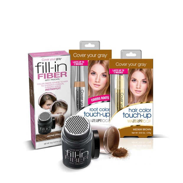 Cover Your Gray Zoom in on Gray Hair Touch-Ups Bundle 3-PC Set - coveryourgray
