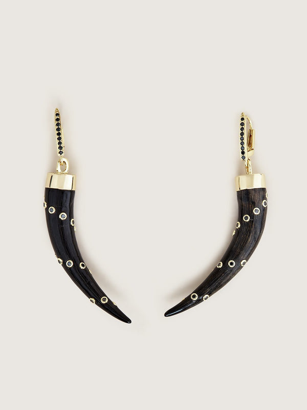 The Karoo Collection Earrings - Black Diamond Pave Huggie