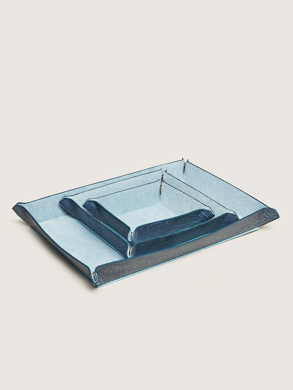 Valet Tray Set - Ahos Blue Jean