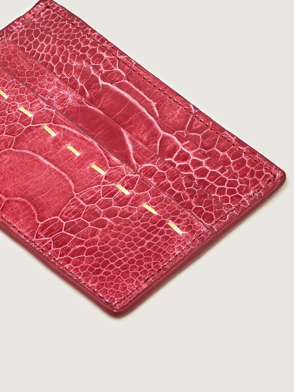 Card Holder - Ostrich Shin Lathryus