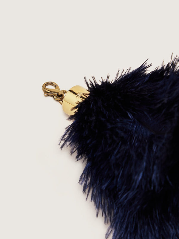 Ostrich Feather Charm - Navy