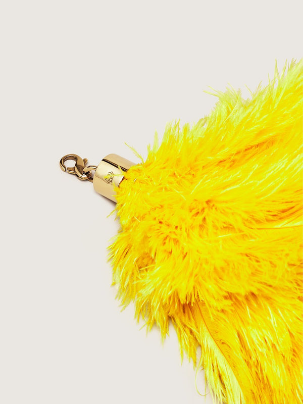 Ostrich Feather Charm - Sun
