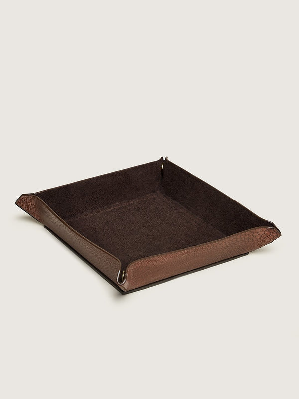 Valet Tray Set - Mid Brown