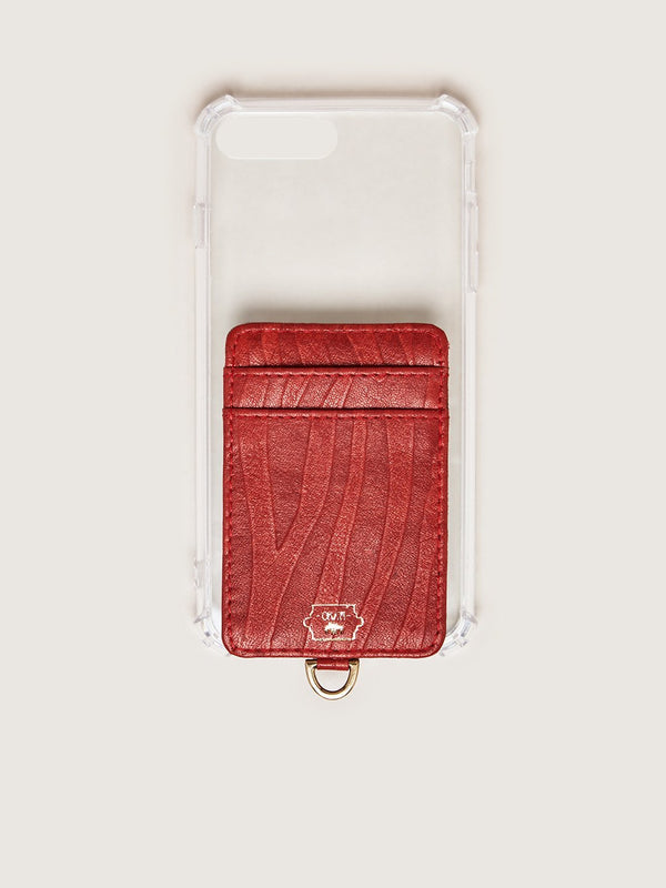 Phone Wallet - Flame Red Blesbok