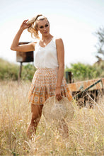 Load image into Gallery viewer, Coralie Boho Frill Mini Skirt