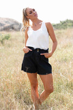Load image into Gallery viewer, Anodella Black Wash Denim Shorts