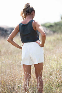 Anodella White Denim Shorts