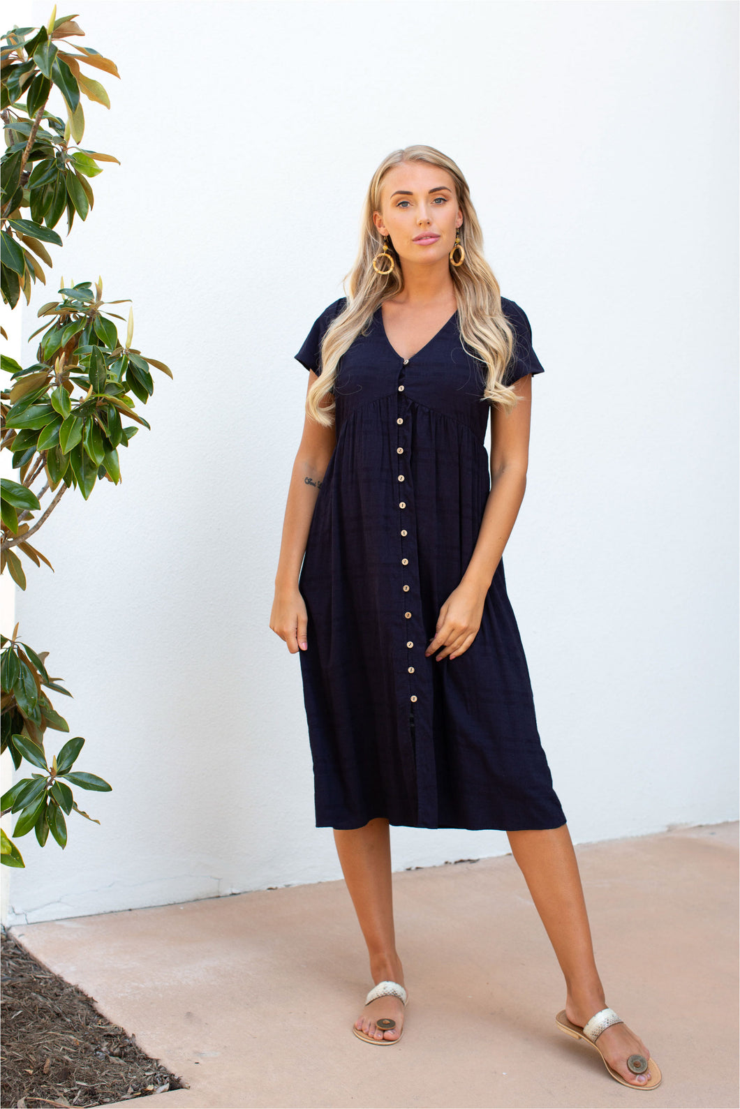 Fairview Linen Dress