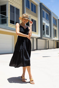 Carmel Black Tierred Dress