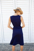 Load image into Gallery viewer, Cymbeline Linen Dress Navy