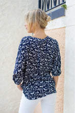Load image into Gallery viewer, Gabriel Print Top Navy