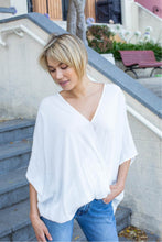 Load image into Gallery viewer, Clara Batwing Crossover Top White