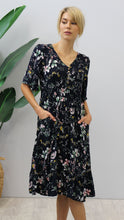 Load image into Gallery viewer, August Floral Print Maxi Dress Navy