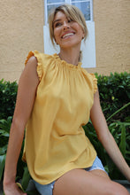 Load image into Gallery viewer, Frankie High neck top Yellow