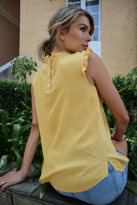 Frankie High neck top Yellow
