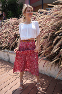 Esperence Skirt Paisley Red