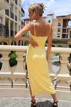 Load image into Gallery viewer, Florentine High Split Yellow Evening Dress