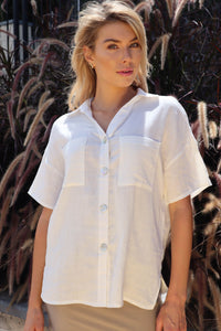 Sorrento White Button shirt