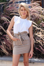 Load image into Gallery viewer, Billy High Waisted Brown Skirt