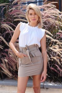 Billy High Waisted Brown Skirt
