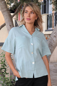 Sorrento Mint Button shirt