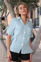Load image into Gallery viewer, Sorrento Mint Button shirt