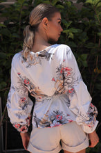 Load image into Gallery viewer, Oliana Puffer Long sleeve Cross over top