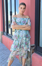 Load image into Gallery viewer, Bailey Off Shoulder Floral Dress