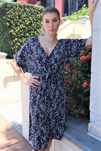 Load image into Gallery viewer, Nala Sleeved Navy Maxi Dress
