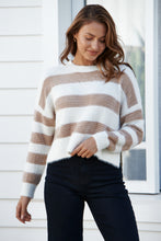 Load image into Gallery viewer, Abigale Fluffy Beige Stripe Jumper