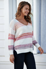 Load image into Gallery viewer, Evelyn Apricot Pink Stripe Knit Jumper