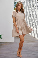 Load image into Gallery viewer, Charmaine Cap Sleeve Beige Dress