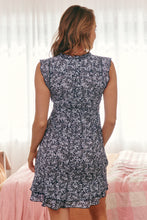 Load image into Gallery viewer, Amalia Blue Leaf Short Summer Dress