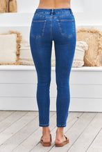 Load image into Gallery viewer, Rip knee Blue Denim