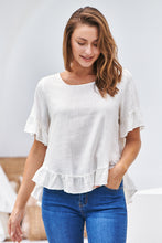 Load image into Gallery viewer, Aries Cream Linen Tee