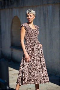 Ines Shirred Maxi Dress