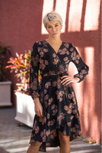 Load image into Gallery viewer, Hailey Cross over Long sleeve Print Dress