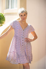 Load image into Gallery viewer, Alicia Lilac Button Front Dress