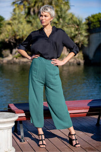 Chelsea Culotte Elasticated Green