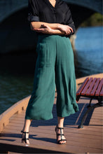 Load image into Gallery viewer, Chelsea Culotte Elasticated Green