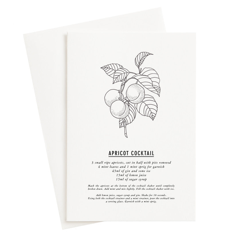 Load image into Gallery viewer, Apricot Cocktail Recipe Card