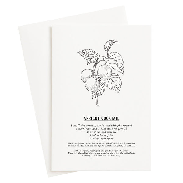 Apricot Cocktail Recipe Card