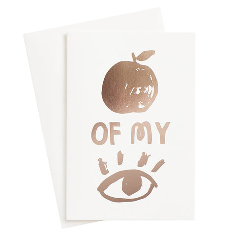 Apple Of My Eye Card (Sold Out)