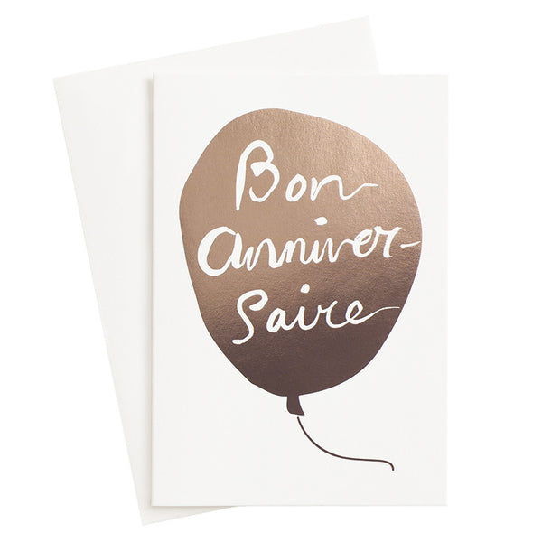 French Happy Birthday Card