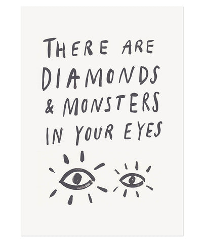 Diamonds and Monsters Print