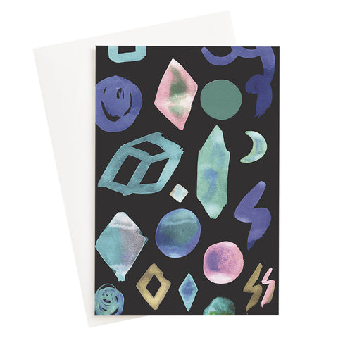 Diamonds and Minerals Night Card