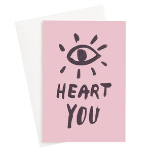 Load image into Gallery viewer, Eye Heart You Blush Card