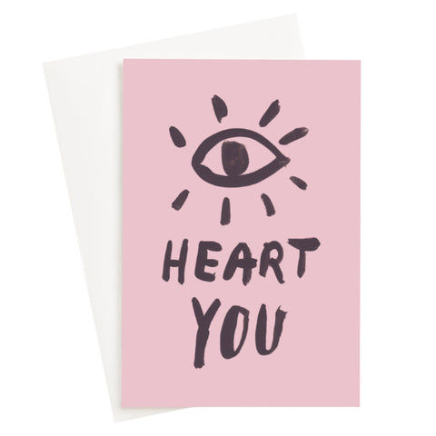 Eye Heart You Blush Card