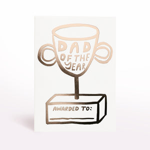 Dad of the Year Trophy Card