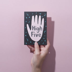 High Five Confetti Card